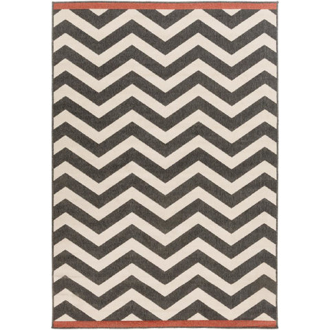 Alfresco Black, Cream Rug - Surya (ALF-9646)