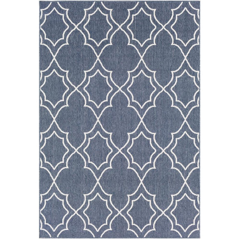 Alfresco Charcoal, White Rug - Surya (ALF-9650)