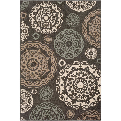 Alfresco Black, Sea Foam Rug - Surya (ALF-9668)