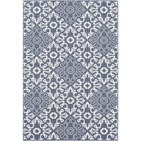 Alfresco Charcoal, White Rug - Surya (ALF-9676)