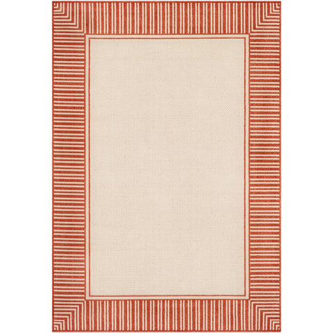 Alfresco Burnt Orange, Cream Rug - Surya (ALF-9683)