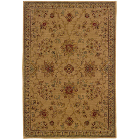 ALLURE 013C1 Beige, Red Rug - Oriental Weavers
