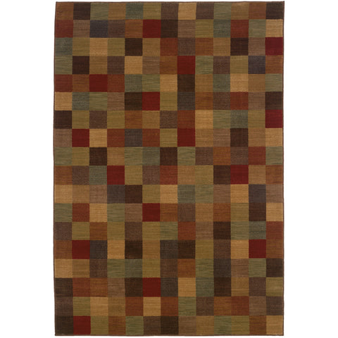 ALLURE 003A1 Brown, Red Rug - Oriental Weavers