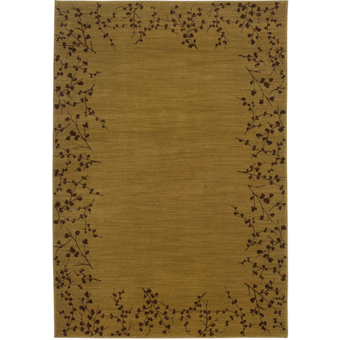 ALLURE 004B1 Gold, Brown Rug - Oriental Weavers