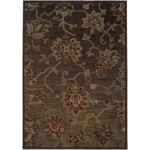 ALLURE 054C1 Brown, Green Rug - Oriental Weavers