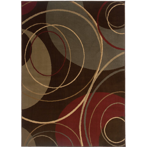 AMELIA 662K6 Brown, Red Rug - Oriental Weavers