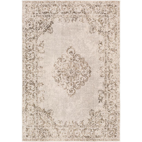Amsterdam Beige, Light Gray Rug - Surya (AMS-1008)