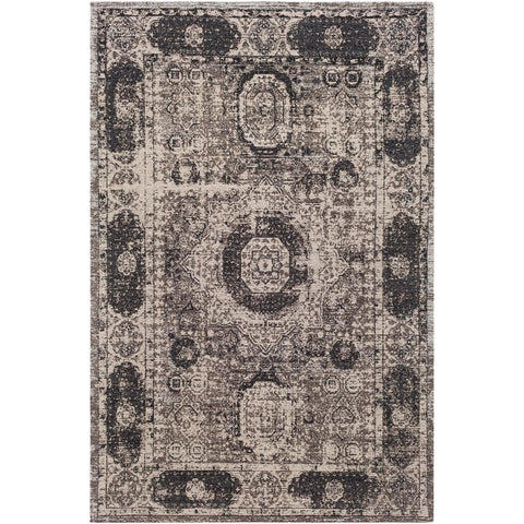 Amsterdam Dark Brown, Charcoal Rug - Surya (AMS-1012)