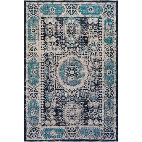 Amsterdam Navy, Light Gray Rug - Surya (AMS-1013)