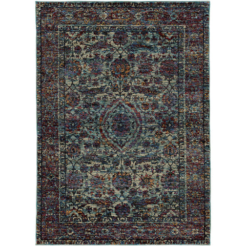 ANDORRA 6846B Blue, Purple Rug - Oriental Weavers