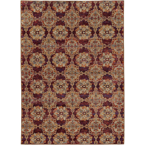 ANDORRA 6883A Red, Gold Rug - Oriental Weavers