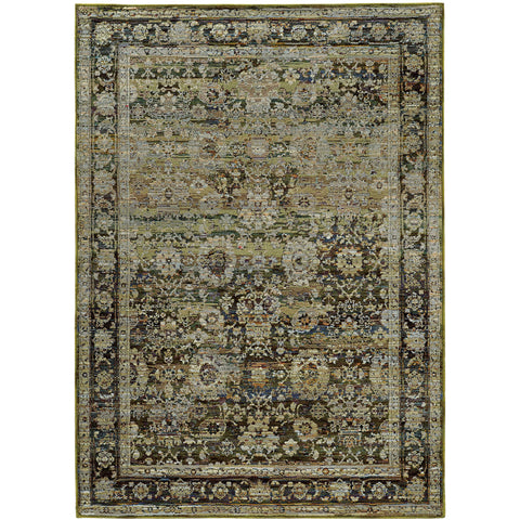 ANDORRA 7125C Green, Brown Rug - Oriental Weavers