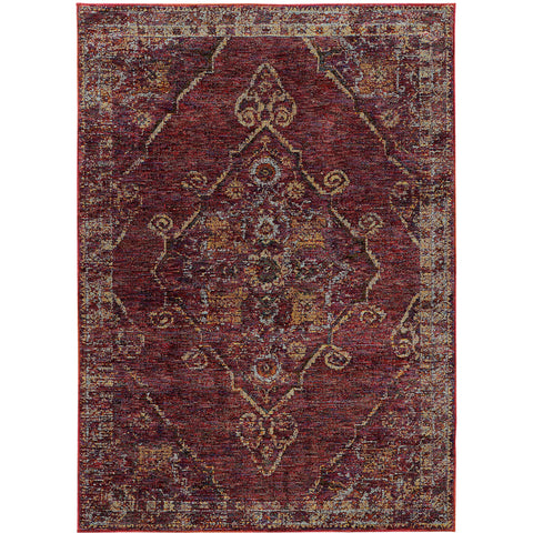 ANDORRA 7135E Red, Gold Rug - Oriental Weavers