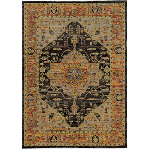 ANDORRA 7138B Gold, Grey Rug - Oriental Weavers