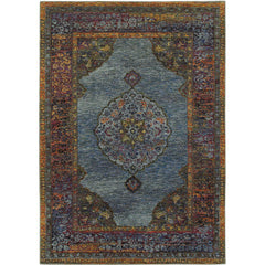 ANDORRA 7139A Blue, Brown Rug - Oriental Weavers