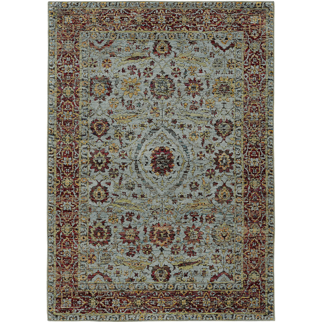 ANDORRA 7155A Blue, Red Rug - Oriental Weavers