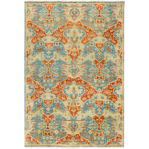 Antolya Sky Blue, Burnt Orange Rug - Surya (ANT-9712)