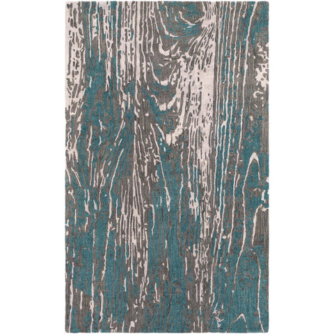Artist Studio Teal, Dark Brown Rug - Surya (ART-246)
