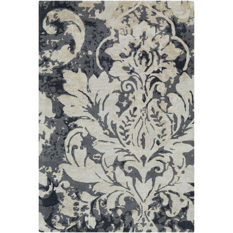 Artist Studio Medium Gray, Charcoal Rug - Surya (ART-248)