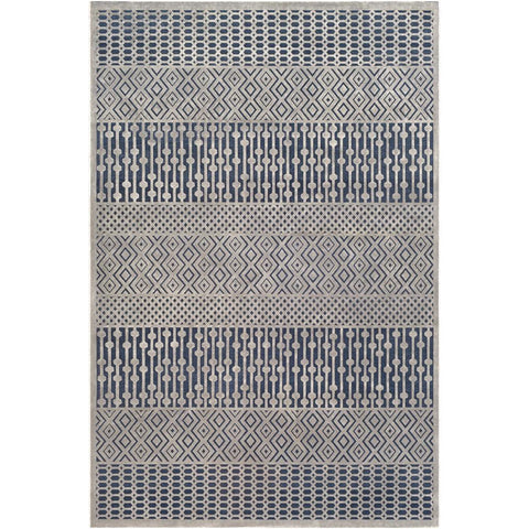 Aesop Dark Blue, Medium Gray Rug - Surya (ASP-2302)