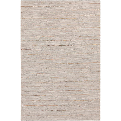 Anthracite Light Gray, Metallic - Champagne Rug - Surya (ATE-8002)