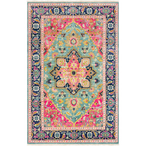Antique Teal, Bright Pink Rug - Surya (ATQ-1015)