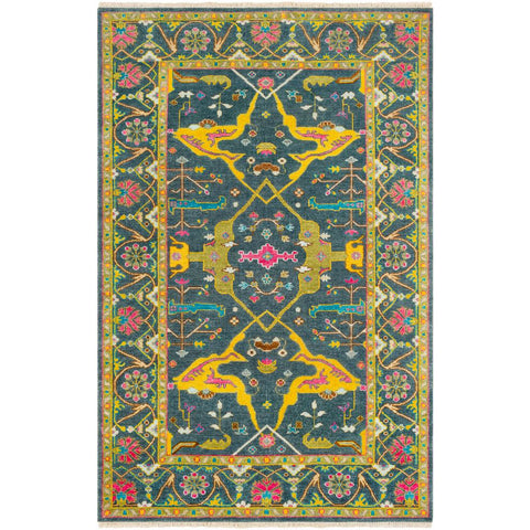 Antique Navy, Mustard Rug - Surya (ATQ-1016)