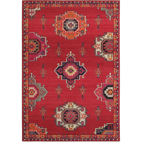 BOHEMIAN 1801R Pink, Orange Rug - Oriental Weavers