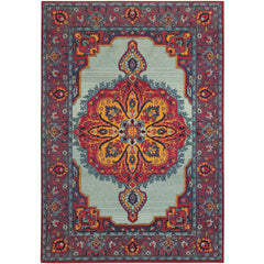 BOHEMIAN 3339M Blue, Purple Rug - Oriental Weavers