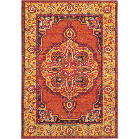 BOHEMIAN 3339Y Orange, Yellow Rug - Oriental Weavers