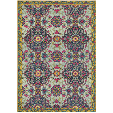 BOHEMIAN 539E5 Blue, Yellow Rug - Oriental Weavers