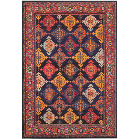 BOHEMIAN 6997K Navy, Yellow Rug - Oriental Weavers