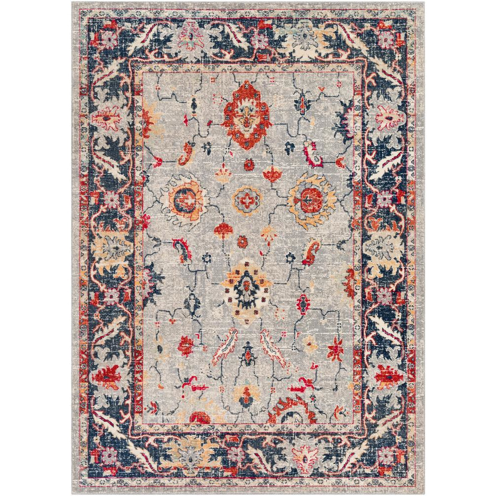 Bohemian Bright Red, Light Gray Rug - Surya (BOM-2302)