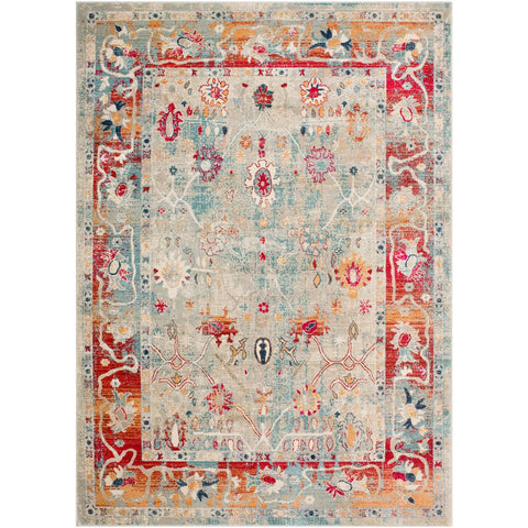 Bohemian Bright Red, Burnt Orange Rug - Surya (BOM-2306)