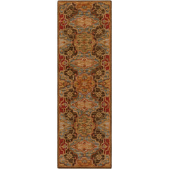 Carrington Dark Green, Camel Rug - Surya (CAR-1005)