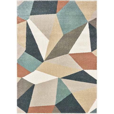 CARSON 9659B Blue, Orange Rug - Oriental Weavers