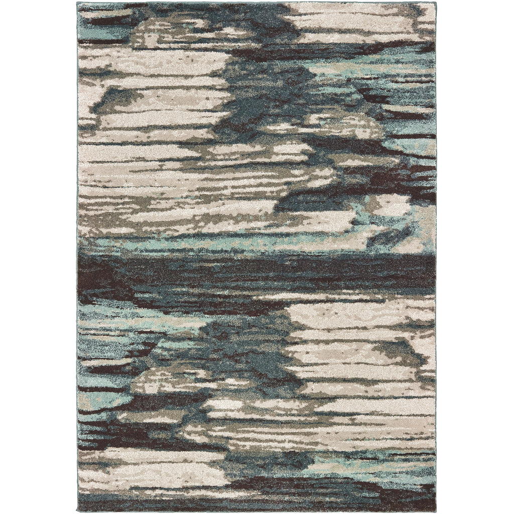 CARSON 9675A Blue, Ivory Rug - Oriental Weavers