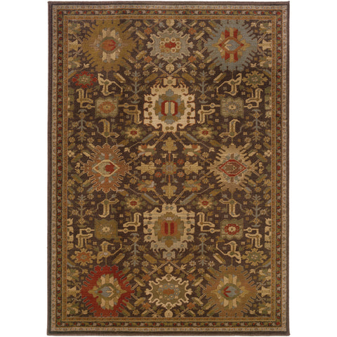 CASABLANCA 4444A Brown, Gold Rug - Oriental Weavers