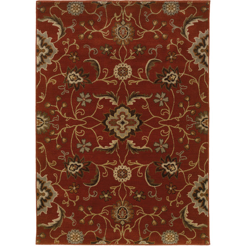 CASABLANCA 4471B Red, Beige Rug - Oriental Weavers