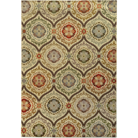 CASABLANCA 5324A Brown, Beige Rug - Oriental Weavers