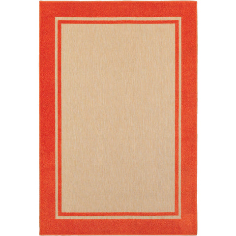 CAYMAN 5594Q Sand, Orange Rug - Oriental Weavers