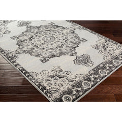 Chester Medium Gray, Black Rug - Surya (CHE-2318)