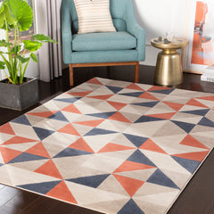 City Coral, Charcoal Rug - Surya (CIT-2314)