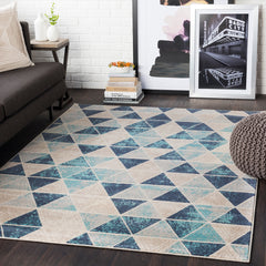 City Aqua, Charcoal Rug - Surya (CIT-2328)
