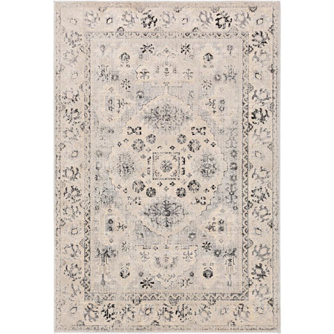 City Taupe, Black Rug - Surya (CIT-2365)