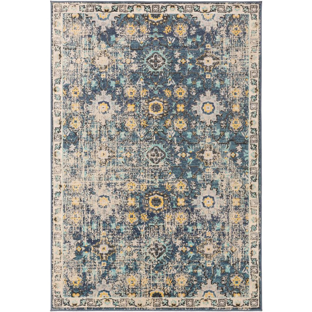 City Charcoal, Aqua Rug - Surya (CIT-2371)