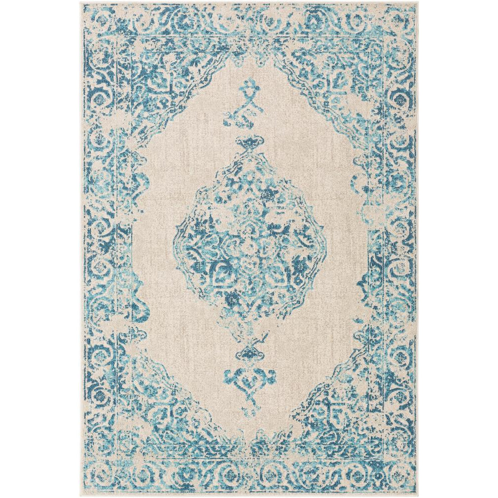 City Aqua, Charcoal Rug - Surya (CIT-2385)