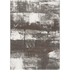 Contempo Dark Brown, White Rug - Surya (CPO-3700)