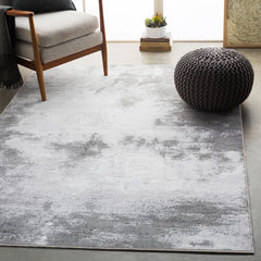 Contempo Light Gray, White Rug - Surya (CPO-3839)