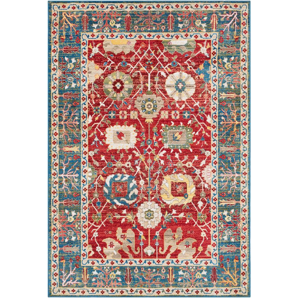 Crafty Burnt Orange, Dark Red Rug - Surya (CRT-2307)